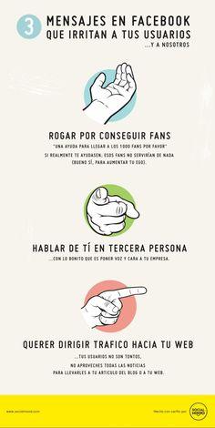 3 tipos de mensajes que irritan a tus usuarios de #Facebook  (repineado por @Pablo Ilde Coraje) #socialmedia