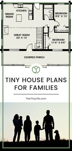 Every wonder how a family lives in a tiny house together? Learn what layouts and tiny house plans work well with families, tips on living together in small homes, and how simple living helps kids and parents enjoy the minimalist life. Tiny House Family, Tiny House Nation, Best Tiny House, Family House Plans, Tiny House Living, Tiny House On Wheels, Small House Plans, House Floor Plans, Living Room