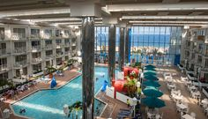 The atrium at the Princess Royale features a pool for any weather! #ocmd
