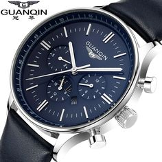 Watches Men Luxury Top Brand GUANQIN New Fashion Men's Big Dial Designer Quartz Watch Male Wristwatch relogio masculino relojes-in Casual Watches from Watches on Aliexpress.com | Alibaba Group