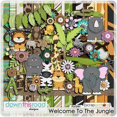 Digital Scrapbook Kit | Welcome To The jungle by Down This Road Designs SKU: DTRD_welcometothejungle