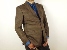 478ee9fb5 Merino Wool Hugo Boss blazer, Size Eur 50 US 40 brown Hugo Boss, zig