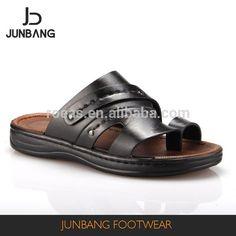 Source Top sale simple design PU black flip flops Iraq style men slippers on m.alibaba.com