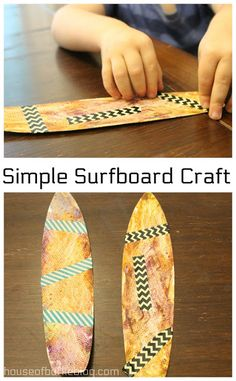 House of Burke: Simple Surfboard Craft Surfboard Craft, Mother Goose Time, Crickets, Luau, Spiders, Butcher Block Cutting Board, No Time For Me, Art Projects, Diys