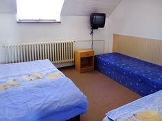 ubytování v podkroví pro 4-6 osoby s balkonem - 35m2 Omega, Duvet, Studios, Toddler Bed, Furniture, Home Decor, Down Comforter, Child Bed, Decoration Home