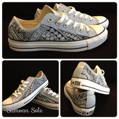Samoan Hand Painted Converse All Star Polynesian by SamoanSole