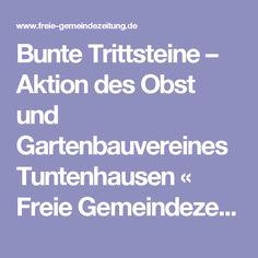 Bunte Trittsteine – Aktion des Obst und Gartenbauvereines Tuntenhausen « Freie Gemeindezeitung Tuntenhausen