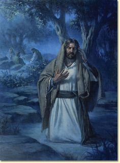"""Matthew 26:36Then Jesus came with them to the spot called Geth·semʹa·ne, and he said to the disciples: """"Sit down here while I go over there and pray."""" 37And taking along Peter and the two sons of Zebʹe·dee, he began to feel grieved and to be greatly troubled. 38Then he said to them: """"I am deeply grieved, even to death. Stay here and keep on the watch with me."""" 39And going a little way forward, he fell facedown, praying: """"My Father, if it is possible, let this cup pass away from me. Yet, not as I will, but as you will."""