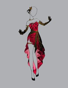 Ideas fashion drawing outfits deviantart for 2019 Drawing Anime Clothes, Dress Drawing, Fashion Design Drawings, Fashion Sketches, Anime Outfits, Cool Outfits, Illustration Mode, Anime Dress, Dress Sketches
