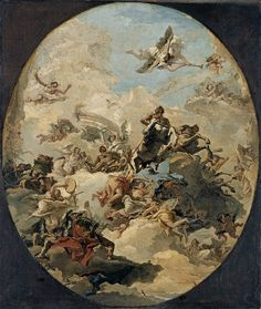 La apoteosis de Hércules - Giandomenico Tiepolo | Museo Thyssen