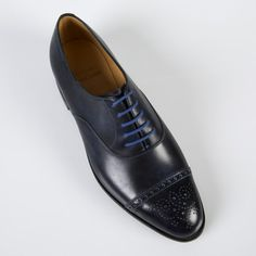 Navy Leather Westbourne Shoes | Paul Smith  John Lobb Men Dress, Dress Shoes, Paul Smith, Oxford Shoes, Lace Up, Navy, My Style, Leather, Fashion