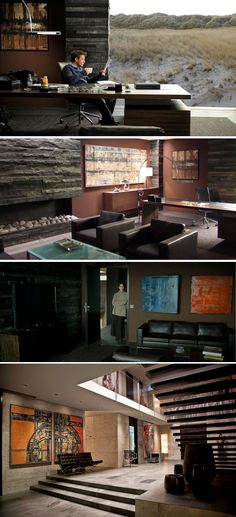 The Ghost Writer (2009). The interiors of the 'ghost writer's' house is a feast of masculine architecture and furniture. Production designer Albrecht Konrad and set decorators Bernhard Henrich & Ulli Isfort mined the Walter Knoll furniture collection and the result is one of the most stylish interiors ever put on screen. Here are a few of the treasures: CEOO Desk, Jørgen Kastholm & Preben Fabricius office chair, Norman Foster 500 leather arm chairs and sofa and of course, the Barcelona…