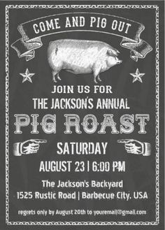 pig roast invitation template free