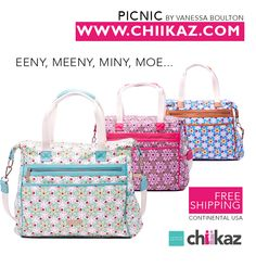 Which bag will you choose!!!  visit www.chiikaz.com for more models