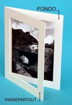 Passepartout con fondo per l'esposizione o archiviazione di foto/ stampe   #archiviazione #fotografia #passepartout #arte #esposizione mailto:info@fotom... www.fotomatica.it