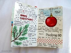 Jenny's Sketchbook: Christmas Pages. I've always liked ideas like this for jr. high. It makes them slow down... and think.