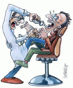 GAIALAND - Confashions on a dancefloor -: Metti una sera dal dentista. Dentist Cartoon, Dentist Jokes, Dental Pictures, Dental Images, Family Dental Care, Dental Posters, Dental Art, Dental Hygiene, Spooky Scary