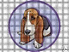 Basset hound cross stitch patterns
