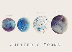 Jupiter's Moons. God is so artistic and creative. How He comes up with all of these beautiful creations never fails to baffle me and leave me in wonder and amazement! What a beautiful God we have.