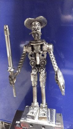 Don Quixote Metal Art Sculpture, Art Sculptures, Scrap Metal Art, Junk Art