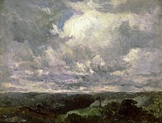 Untitled (landscape, cloudy sky) by Edward Mitchell Bannister