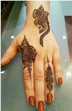 versatile ideas of mehndi and henna designs for better hands' look in 2019 - - Henna - Henna Designs Hand Henna Hand Designs, Eid Mehndi Designs, Short Mehndi Design, Latest Simple Mehndi Designs, Mehndi Designs Finger, Modern Mehndi Designs, Mehndi Designs For Fingers, Mehndi Design Images, Beautiful Henna Designs