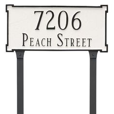 Montague Metal Products New Yorker Standard 2 Line Address Plaque Finish: Black/Silver