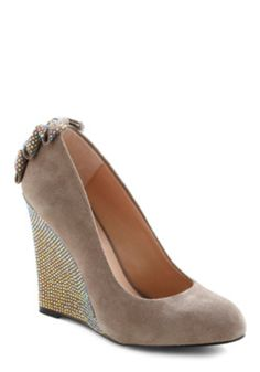 Betsey Johnson Bow Back Wedge - $74
