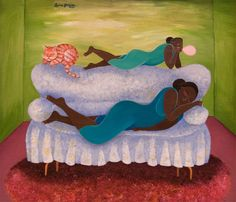 Mother / Daughter, 2006 (acrylic on wood), James, Laura (Contemporary Artist) / Private Collection / The Bridgeman Art Library Mother Daughter Art, Daughter Love, Luv Letter, Annie Lee, Laura James, Frames For Canvas Paintings, Affordable Wall Art, African American Art, Cool Posters