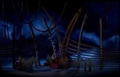 Model for The Flying Dutchman Act 3 The Docks