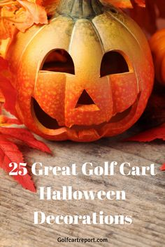 Best Golf Cart, Golf Carts, Golf Halloween, Pumpkin Carving, Halloween Decorations, Fun, Dolphins, Pumpkin Carvings, Halloween Prop