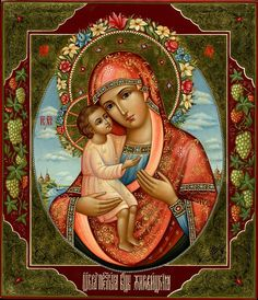 Rich colors for deep love Blessed Mother Mary, Divine Mother, Blessed Virgin Mary, Religious Images, Religious Icons, Religious Art, Hail Holy Queen, Christian Artwork, Queen Of Heaven