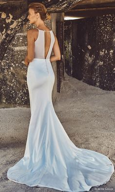 elbeth gillis bridal 2017 sleeveless jewel neck trumpet wedding dress (fiona) bv embellished bodice keyhole back train
