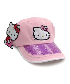 Love this Pink Hello Kitty Cap on #zulily! #zulilyfinds
