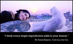 #BeautyInImperfection #Quotes #SonamKapoor #SareezQuote