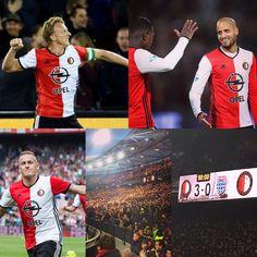 De 3 punten blijven in rotterdam Feyenoord vs Pec Zwolle 3-0