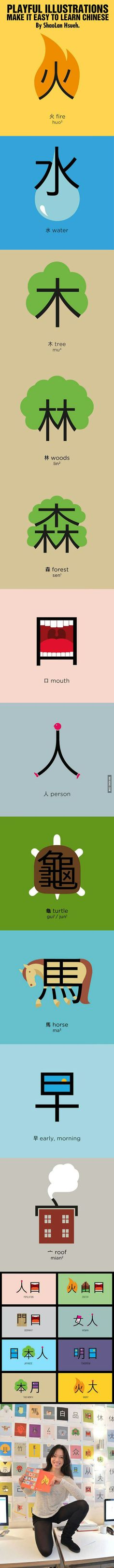 These illustrations make it easy to learn Chinese - 9GAG