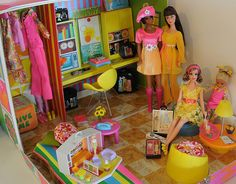 julia, barbie, becky and stacie have a doll party by deborah is lola, via Flickr