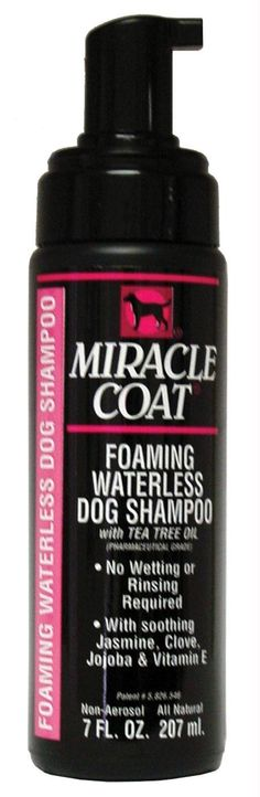 Foam Waterless Shampoo for Dogs No wetting or rinsing required.
