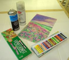 How to Seal Oil Pastels 4 steps