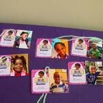 Doc McStuffins favor tags! Free with doctor kit printable! Just add pics and yarn