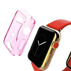 [$0.54] HAWEEL for Apple Watch 38mm Slim Transparent Soft TPU Protective Case(Pink)