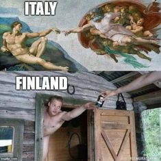 Tagged with funny, art, memes; Art In Finland Short Jokes Funny, Funny V, Funny Relatable Memes, Funny Posts, Finnish Memes, Best Funny Pictures, Funny Images, Cute Good Morning Quotes, Finnish Sauna