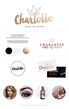 Mini Branding Package  Photography Logo  Rose by SeventyTwoStudio