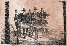 Looking for a Fight - When Sheriff Johnny Behan confronts the Earps and Doc (middle) with the news that he has disarmed the Cowboys, Virgil and Wyatt both pocket their pistols, but the four men continue toward the Cowboys. Morgan Earp, Virgil Earp, Tombstone Epitaphs, Old West Outlaws, Wyatt Earp, Street Fights, Face Off, Cowboys, Vintage World Maps