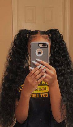 Black Girl Braided Hairstyles, Baddie Hairstyles, Ponytail Hairstyles, Pretty Hairstyles, Hair Ponytail Styles, Curly Hair Styles, Natural Hair Styles, Afro, Barbie
