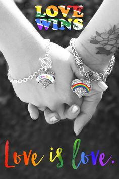 At the end of the day love always wins. Check out this collection of Love Wins jewelry starting at only $10. #LoveWins