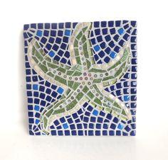 Starfish Mosaic Art beach mosaic wall art by MollycatMosaics, $65.00