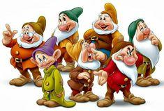The Seven Dwarfs Disney Magic, Disney Art, Disney Pixar, Disney Cartoon Characters, Cartoon Books, Snow White Pictures, Snow White Characters, Images Disney, Snow White Seven Dwarfs