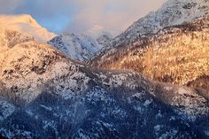 Pemberton Mountains at sunset Photograph